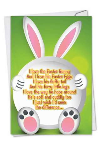Hilarious Easter Paper Card by Greg Dougal from NobleWorksCards.com - Chocolate and His Poo