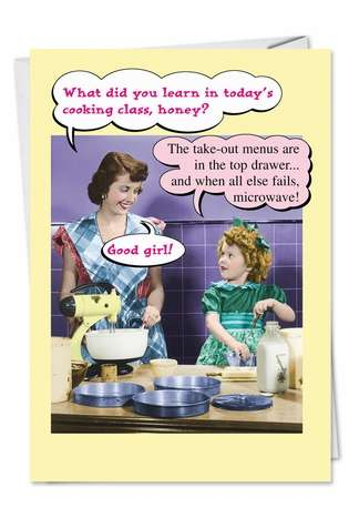 Hysterical Mother's Day Paper Greeting Card from NobleWorksCards.com - Microwave