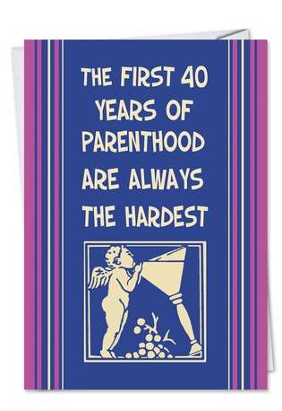 Funny Mother's Day Paper Greeting Card by Ephemera from NobleWorksCards.com - First 40