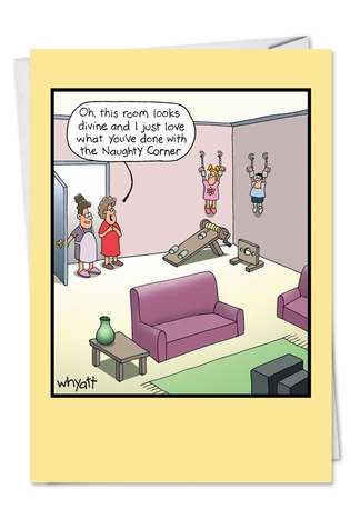 Funny Mother's Day Printed Card by Tim Whyatt from NobleWorksCards.com - Room Looks Divine