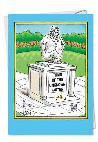 Hysterical Father's Day Paper Card by Daniel Collins from NobleWorksCards.com - Unknown Farter