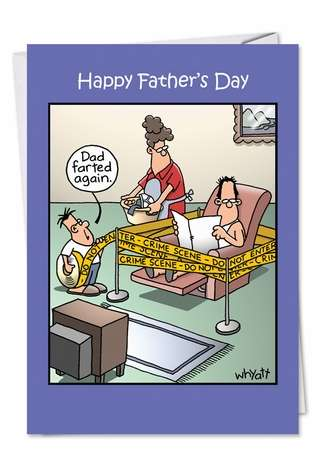 Dad Farted Again Fd Adult Father's Day Card