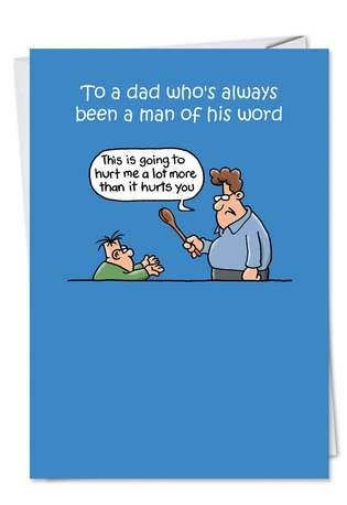 Man Of His Word Father's Day Greeting Card
