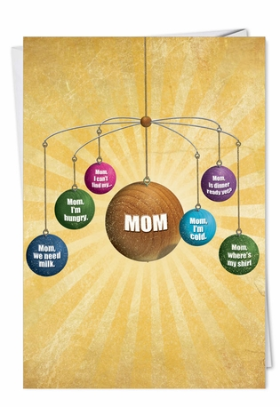 Hilarious Mother's Day Paper Card from NobleWorksCards.com - Where Is Mom