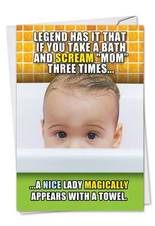 Humorous Mother's Day Printed Greeting Card from NobleWorksCards.com - Legend Has It