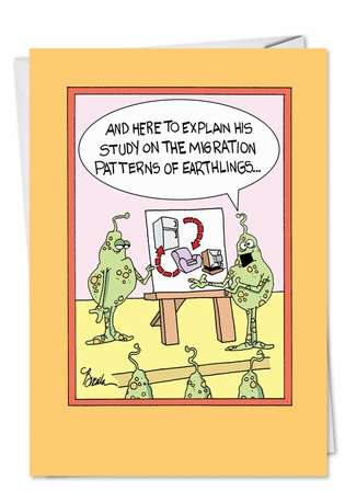 Humorous Father's Day Greeting Card by Martin Bucella from NobleWorksCards.com - Earthlings
