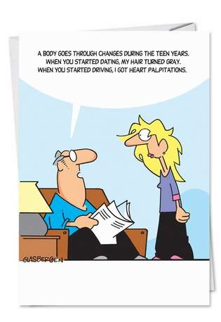 Hysterical Father's Day Greeting Card by Randy Glasbergen from NobleWorksCards.com - Body Changes