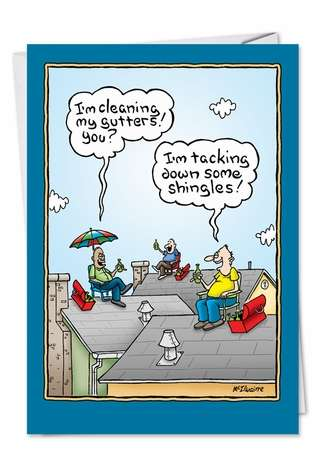 Dad On The Roof Father S Day Funny Greeting Card Nobleworks