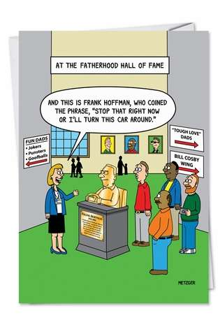 Humorous Blank Paper Greeting Card by Scott Metzger from NobleWorksCards.com - Hall of Fame