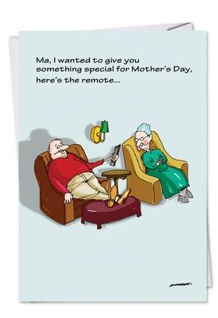 Humorous Blank Paper Card by David Skidmore from NobleWorksCards.com - Special Remote