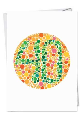 Hilarious Birthday Printed Card from NobleWorksCards.com - 40 Numbers Dots