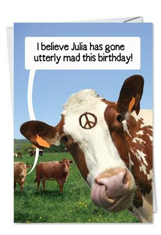 Bad Grass: Funny Birthday Paper Card