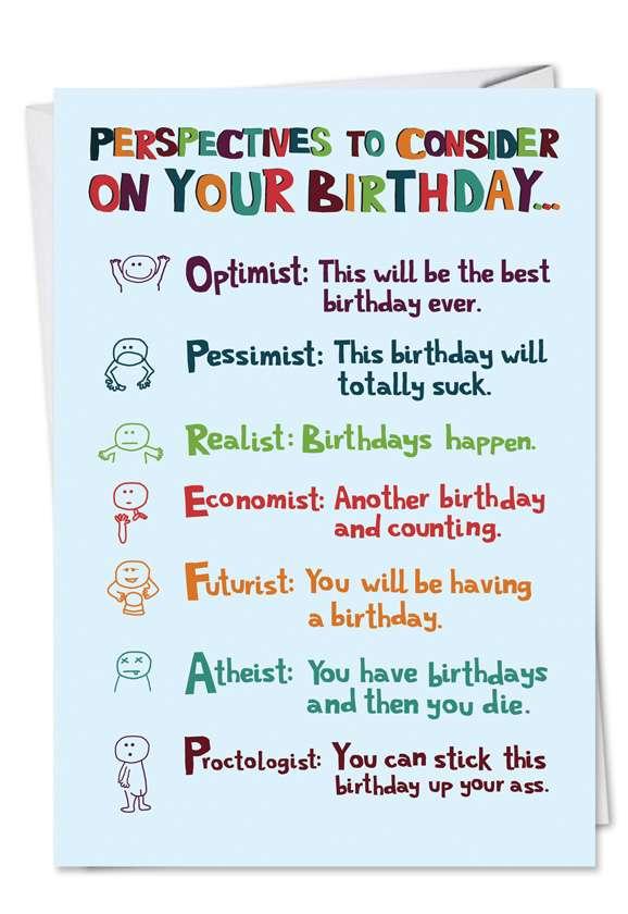Humorous Birthday Greeting Card from NobleWorksCards.com - Birthdayist