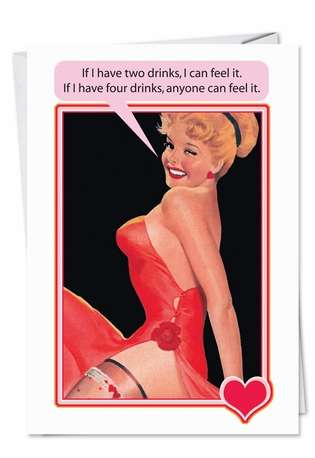 Hysterical Birthday Paper Greeting Card from NobleWorksCards.com - Two Drinks