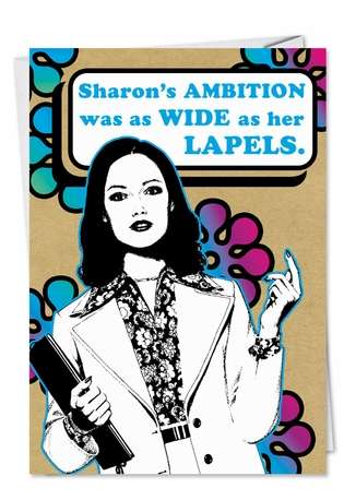 Lapels: Humorous Birthday Paper Card