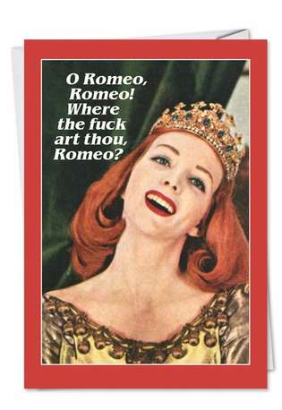 Humorous Birthday Greeting Card by Ephemera from NobleWorksCards.com - Romeo