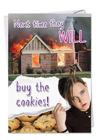Funny Birthday Printed Greeting Card from NobleWorksCards.com - Buy the Cookies