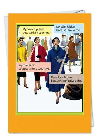 I Wear Brown: Hilarious Birthday Paper Greeting Card
