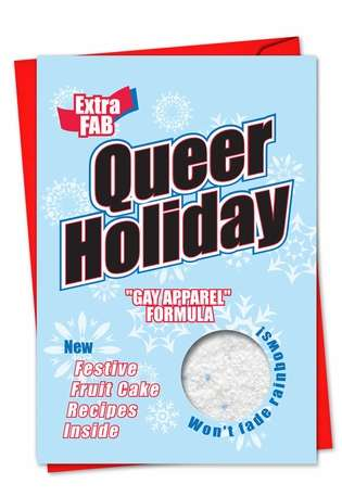 Humorous Christmas Paper Card from NobleWorksCards.com - Queer Holiday