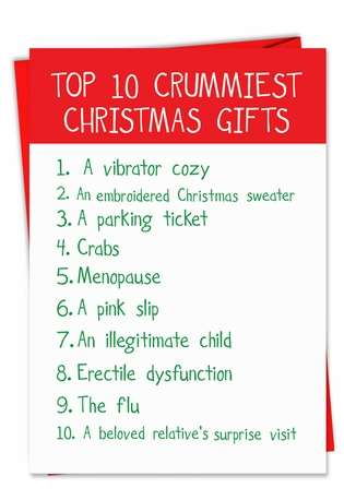 Hysterical Christmas Paper Card from NobleWorksCards.com - Crummy Gifts