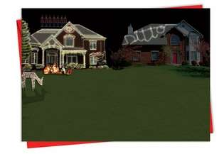 Funny Christmas Printed Greeting Card from NobleWorksCards.com - Ditto House