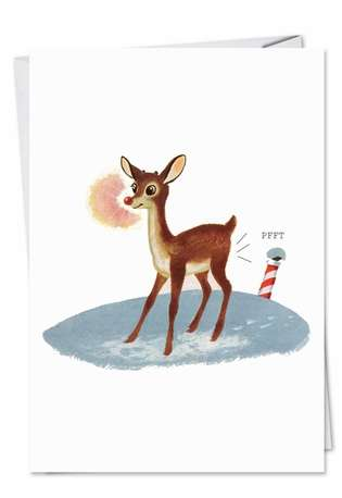 Rudolph Fart: Humorous Christmas Greeting Card
