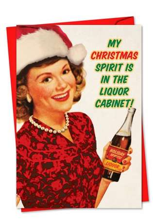 Funny Christmas Greeting Card from NobleWorksCards.com - Christmas Spirit