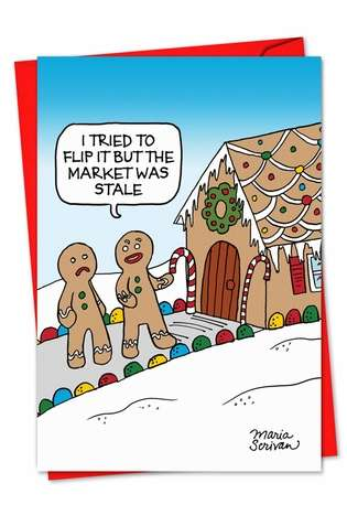 Stale Market: Humorous Christmas Paper Card