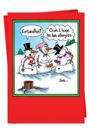 Hysterical Christmas Paper Card by Martin Bucella from NobleWorksCards.com - Gesundheit