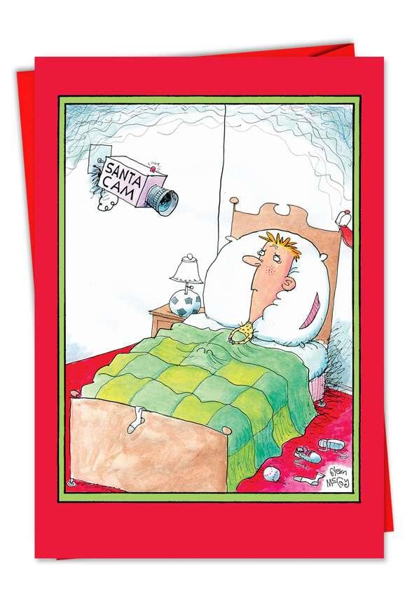 Santa Cam: Funny Christmas Paper Card