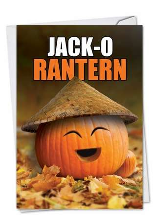Hilarious Halloween Paper Card from NobleWorksCards.com - Jack-O Rantern