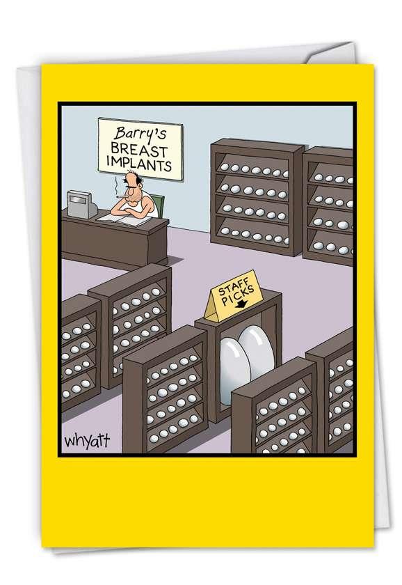 Humorous Blank Greeting Card by Tim Whyatt from NobleWorksCards.com - Staff Picks