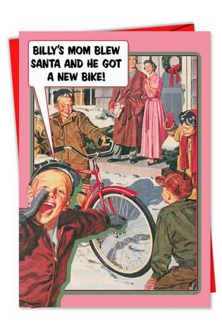 Hysterical Christmas Printed Greeting Card from NobleWorksCards.com - Billys Mom