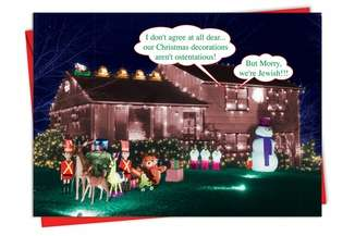 Humorous Christmas Paper Card from NobleWorksCards.com - But Morry
