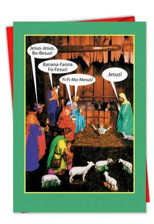 Hysterical Christmas Greeting Card from NobleWorksCards.com - JesusBoBesus