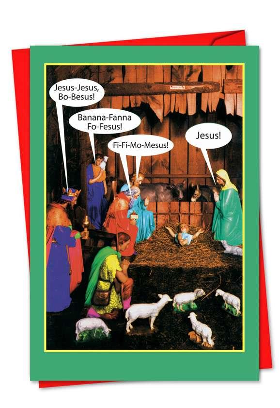 JesusBoBesus: Humorous Blank Paper Card