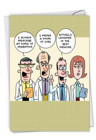 Hilarious Get Well Greeting Card by Scott Nickel from NobleWorksCards.com - Idiot Doctors
