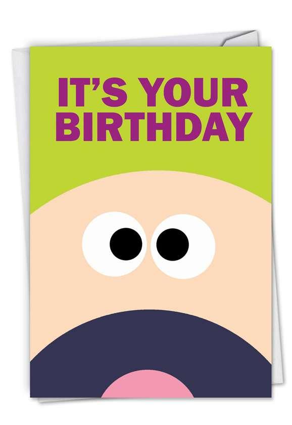 Humorous Birthday Printed Card by Scott Nickel from NobleWorksCards.com - F**k Yeah