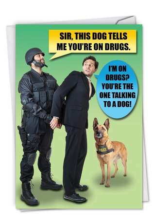 Hysterical Blank Printed Card from NobleWorksCards.com - D**g Dog