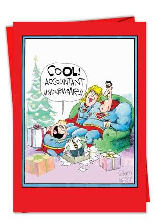 Accountant Underwear: Hilarious Christmas Printed Card