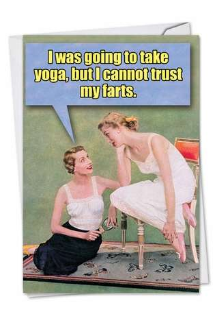 Funny Birthday Printed Greeting Card from NobleWorksCards.com - Trust My F*rts