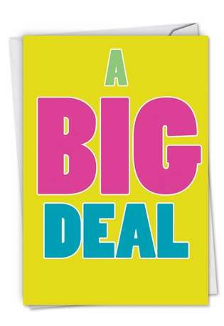 Hysterical Blank Printed Card from NobleWorksCards.com - A Big Deal