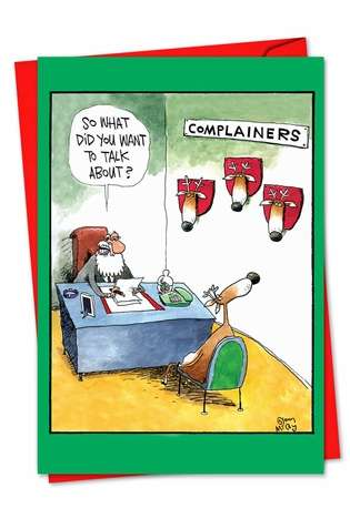 Hilarious Blank Paper Greeting Card by Glenn McCoy from NobleWorksCards.com - Complainers