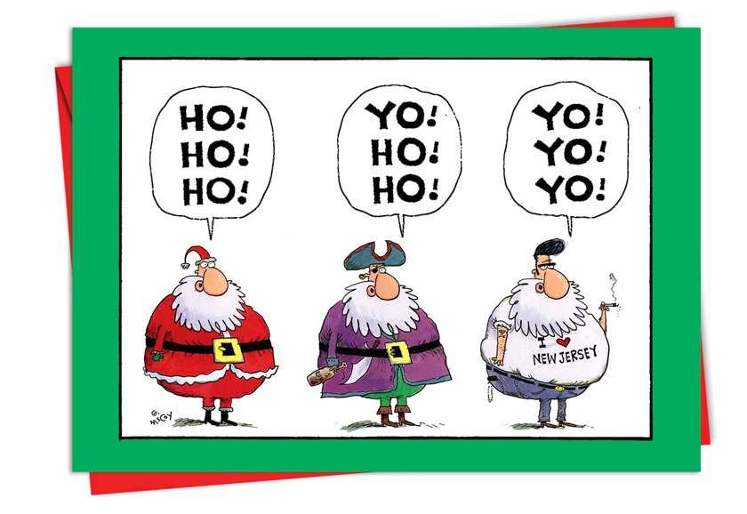 Yo Yo Yo New Jersey Christmas Card - Nobleworkscards.Com
