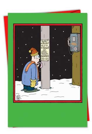 In Case of Emergency: Hysterical Christmas Printed Card