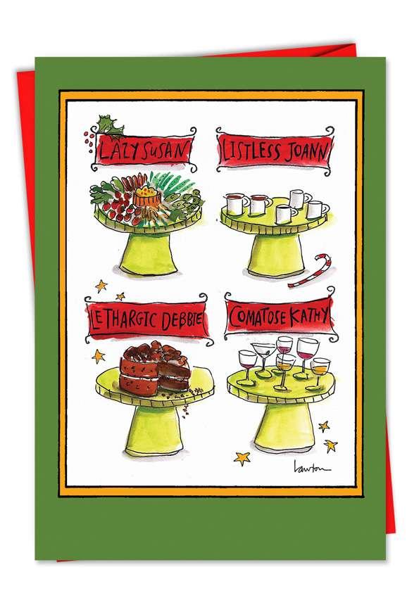 Lazy Susan: Humorous Christmas Paper Card