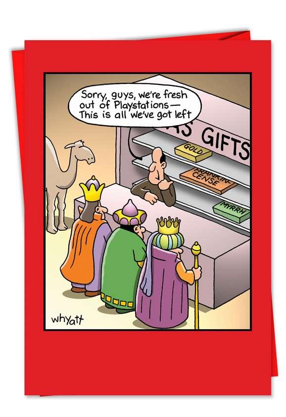 Tim Whyatt Fresh Out Funny Merry Christmas Card Nobleworks