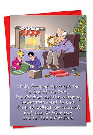 Hilarious Blank Paper Card by Tim Whyatt from NobleWorksCards.com - Sticky Tape