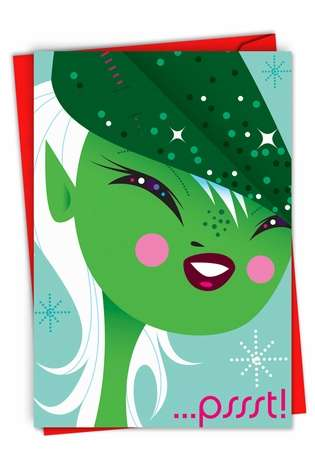 Creative Christmas Paper Card by Kirsten Ulve from NobleWorksCards.com - ...psst!