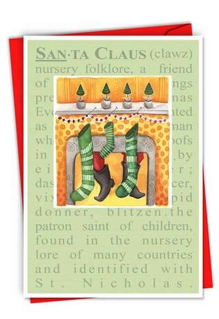 Creative Christmas Paper Card from NobleWorksCards.com - Santa Defined